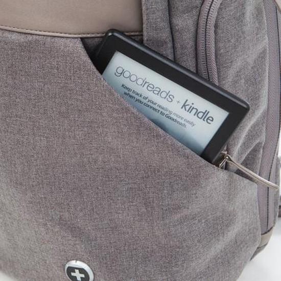 Бизнес раница Signet, бежова, Swiss Digital