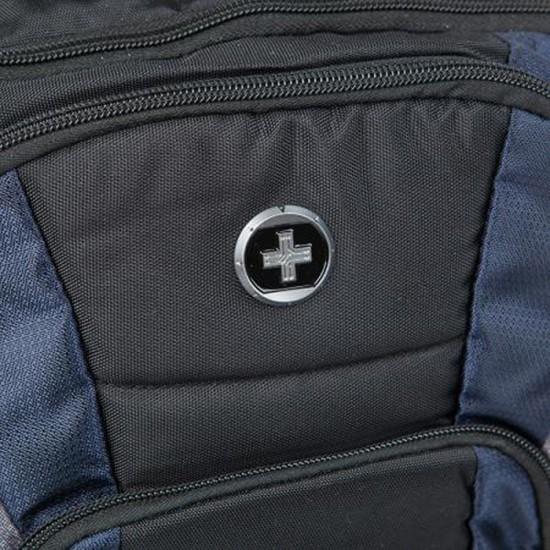 Бизнес раница Megabyte, синьо и черно, SwissDigital