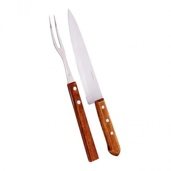 Двурога вилица и нож за барбекю CHURRASCO MADEIRA, SIMONAGGIO Бразилия