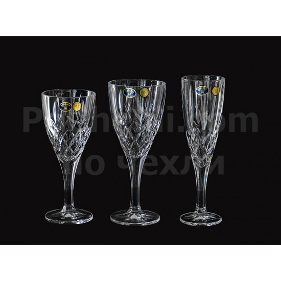 Кристални чаши за шампанско Brixton 180 мл, Crystal Bohemia