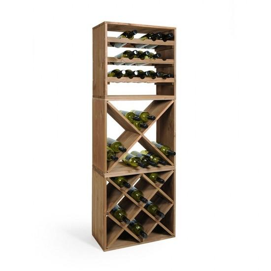 Етажерка за вино РОМБ за 12 бутилки, KESPER Германия