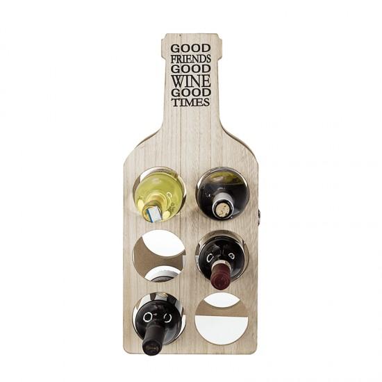 Дървена поставка за бутилки, 51 см