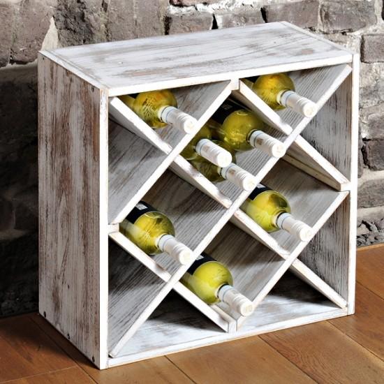 Винтидж етажерка за вино РОМБ за 12 бутилки, KESPER Германия