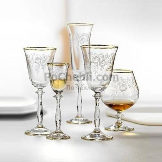 Гравирани чаши за ракия Angela 60 мл, CRYSTALEX BOHEMIA, Чехия