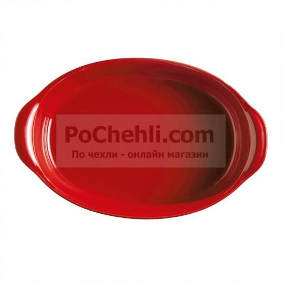 Керамична овална тава 41 см червена, Emile Henry Франция