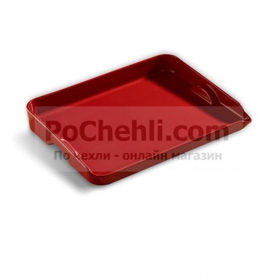 Керамична плоча за печене червена 39 см, Emile Henry Франция