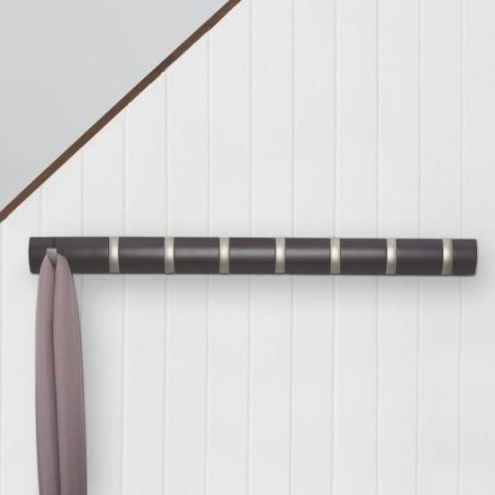 Закачалка за стена FLIP с 8 кукички, кафява, UMBRA Канада