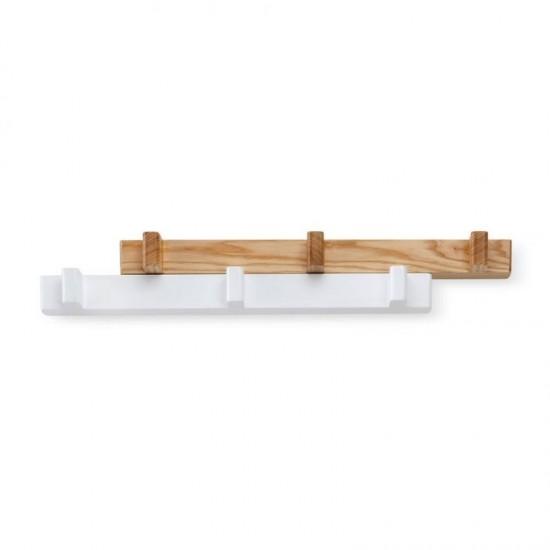 Закачалка за стена  SWITCH с 6 кукички в бяло и натурално, UMBRA Канада