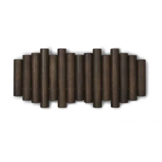 Закачалка за стена PICKET с 5 кукички, орех, UMBRA Канада