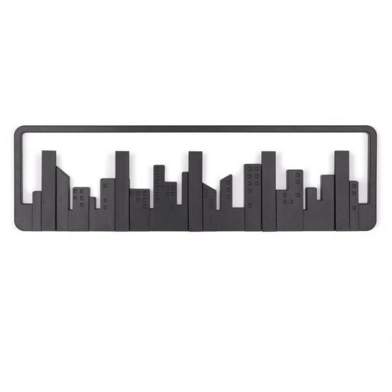 Закачалка за стена SKYLINE с 5 кукички, черна, UMBRA Канада