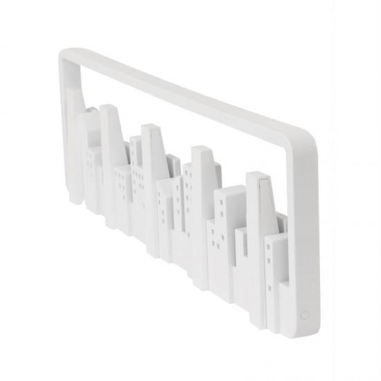 Закачалка за стена SKYLINE с 5 кукички, бяла, UMBRA Канада