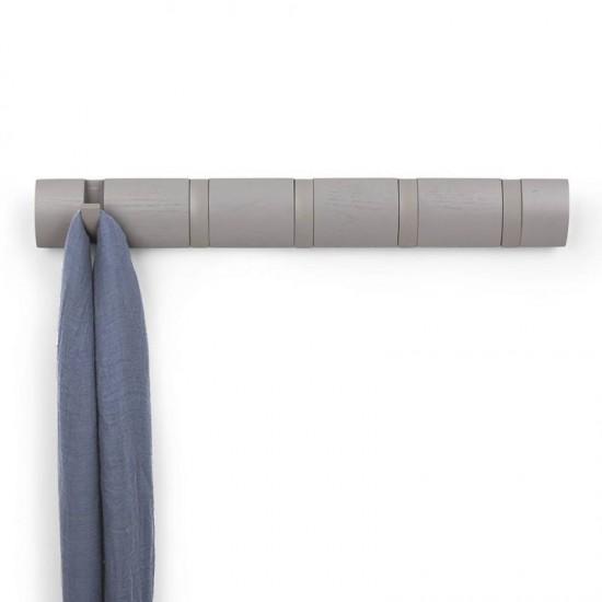 Закачалка за стена FLIP с 5 кукички, сива, UMBRA Канада