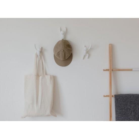 Зкачалки за стена BUDDY, 3 броя, бели, UMBRA Канада