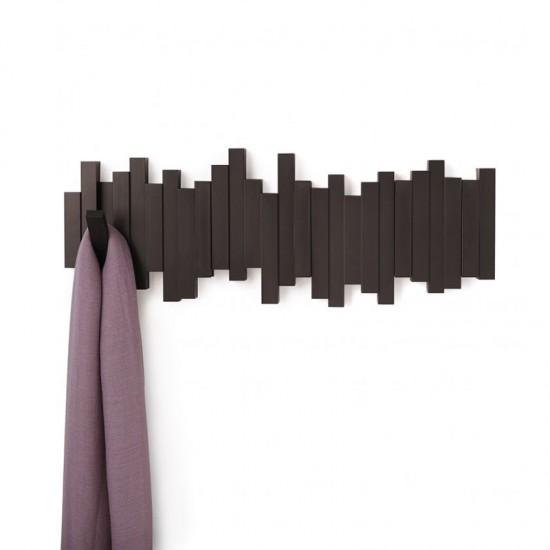 Закачалка за стена STICKS с 5 кукички, кафява, UMBRA Канада