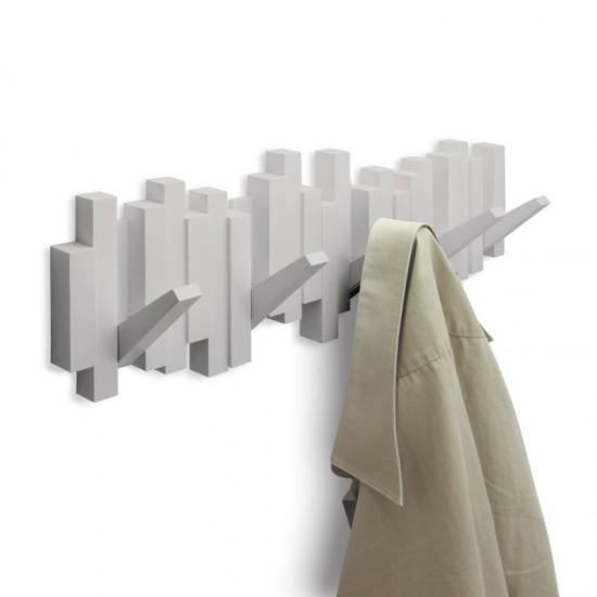 Закачалка за стена STICKS с 5 кукички, сива, UMBRA Канада