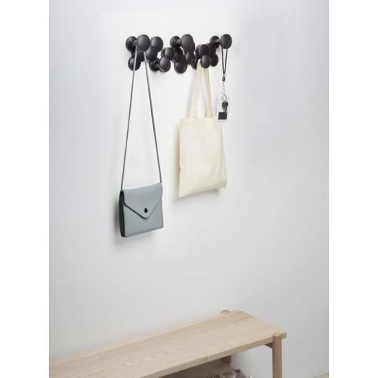 Закачалка за стена BUBBLE с 5 кукички, черна, UMBRA Канада