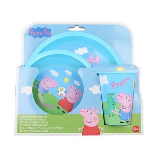 Детски сервиз за хранене PEPPA PIG в 3 части