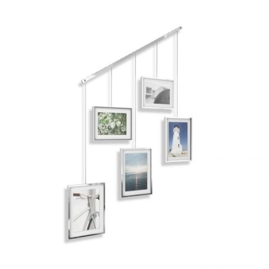 Комплект висящи рамки за снимки EXHIBIT, 5 броя, хром, UMBRA Канада