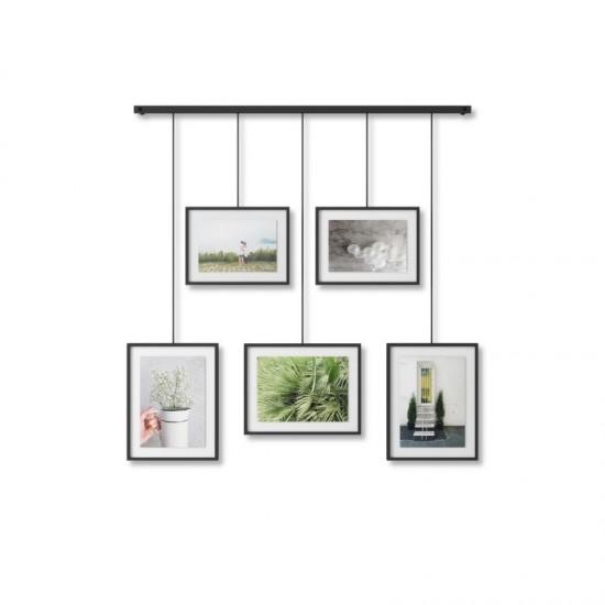 Комплект висящи рамки за снимки EXHIBIT, 5 броя, черен, UMBRA Канада