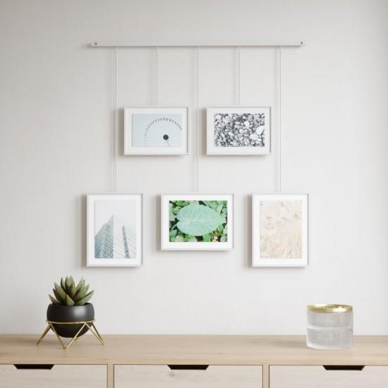 Комплект висящи рамки за снимки EXHIBIT, 5 броя, бял, UMBRA Канада