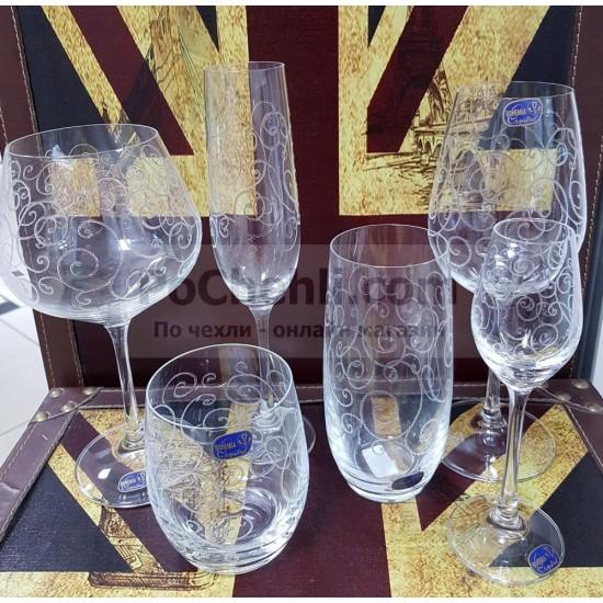 Гравирани чаши за уиски Viola 300 мл, CRYSTALEX BOHEMIA, Чехия