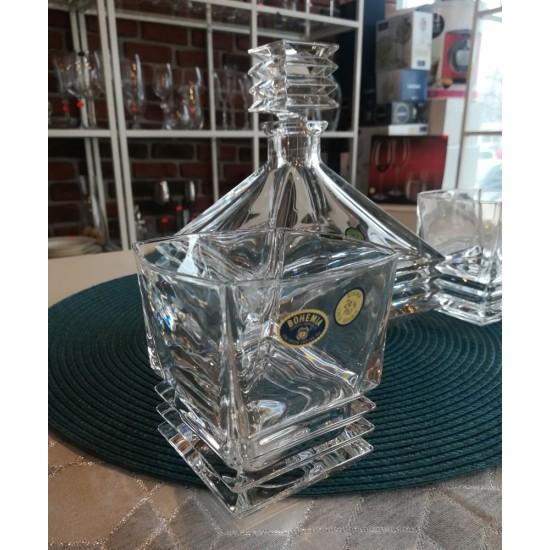 Комплект за уиски Мария, кристал, 7 части, Crystal Bohemia