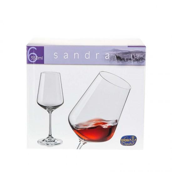 Бели чаши за бяло вино SANDRA, 350 мл., 6 броя, BOHEMIA