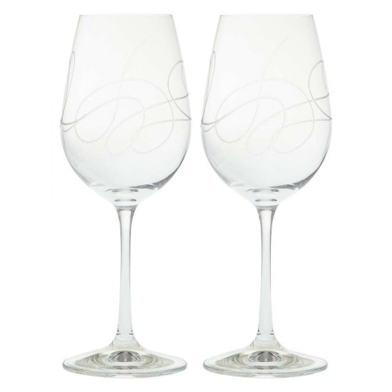 Гравирани чаши за вино STRING, 350 мл., 2 броя, BOHEMIA