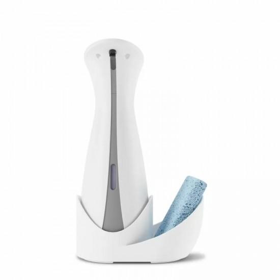 Автоматичен сензорен диспенсър OTTO с поставка за гъба в бяло и сиво, 255 мл., UMBRA Канада