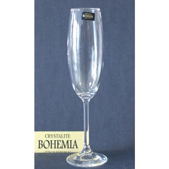 Комплект 6 бр. чаши за шампанско Klara, Crystalite Bohemia