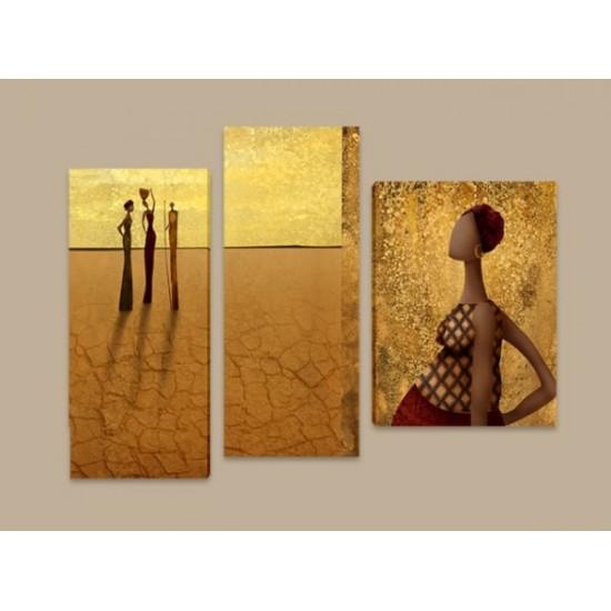 """Картина пано """"Пустинни цветя"""", 100 * 70 см"""