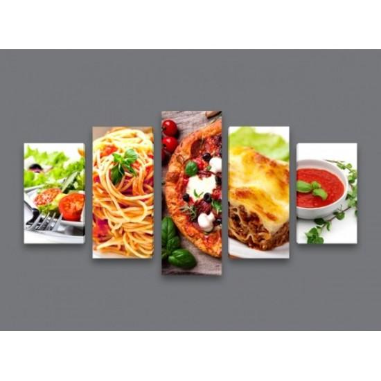 """Картина пано """"Италианска кухня"""", 120 * 60 см"""