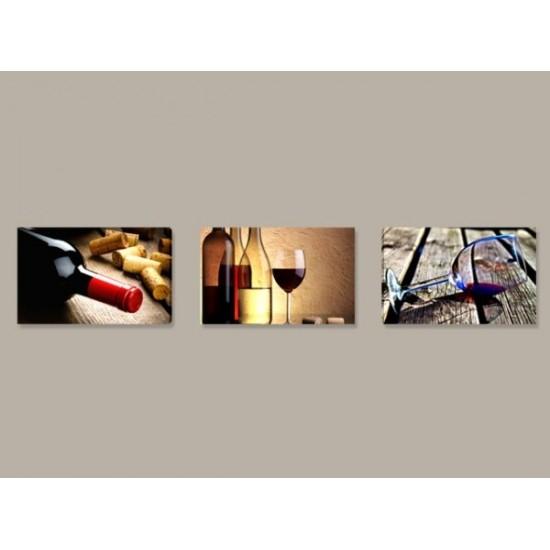"""Картина пано """"Вино"""", 3 бр. 60*35 см"""