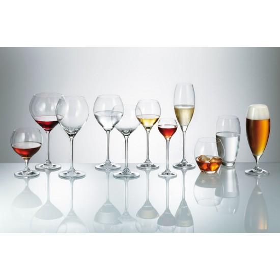Комплект от 6 чаши за бяло вино Сесилия, 240 мл, Crystalite Bohemia