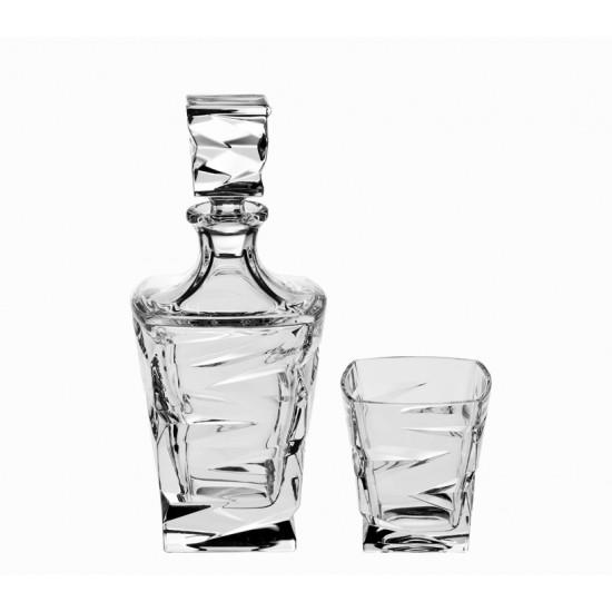 Кристален комплект за уиски ZIG ZAG, 7 части, Crystal Bohemia