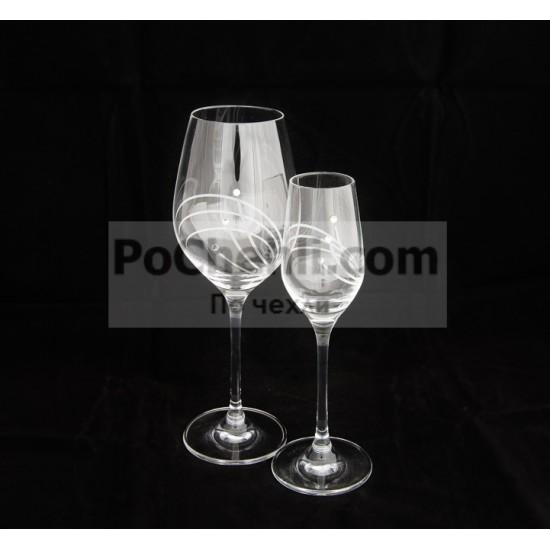 Чаши за вино Diamant Flowers, елементи Swarovski, 6 бр.