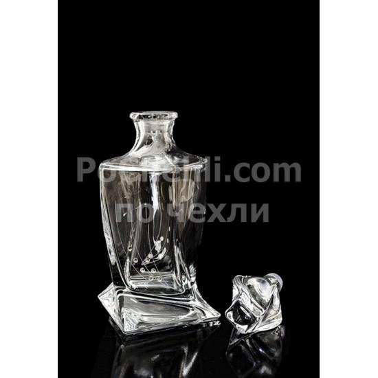 Комплект за уиски Quadro Stones, 7 части