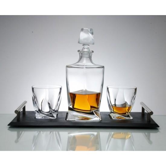 Комплект за уиски Куадро 7 части, Crystalite Bohemia