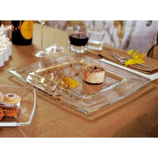 Квадратни чинии за основно, стъклени, TORCELLO, 6 броя, VIDIVI Италия