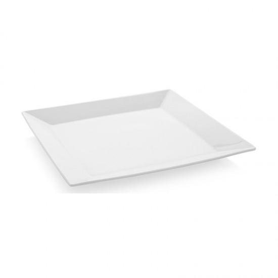 Квадратна порцелановa чиния за основно MERID, 24 см, GÜRAL PORSELEN Турция