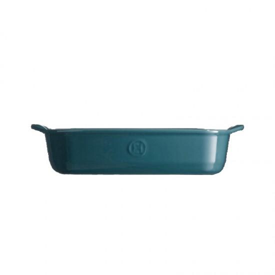 Керамична тава правоъгълна синя 30 см, Emile Henry Франция