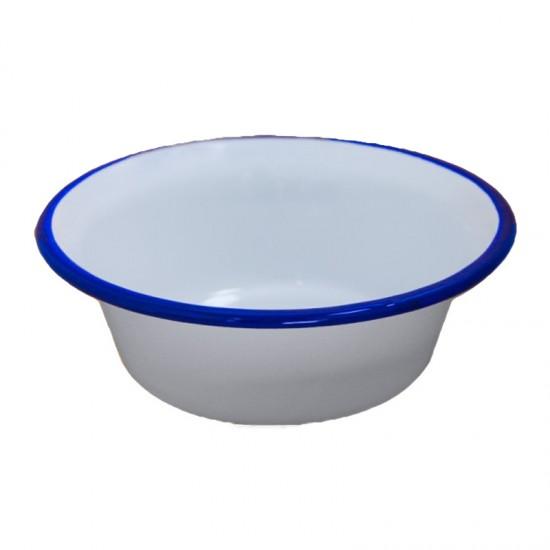 Конусовидна купа Ретро, 16 см, бяло и синьо, Horecano