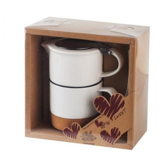 Комплект за чай, порцелан и корк, Lancaster