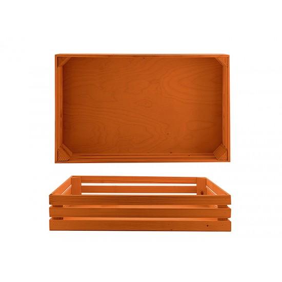 Дървена поставка тип щайга 52 * 32 см, бронз, Bisetti Италия