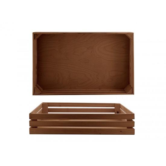Дървена поставка тип щайга, 52 * 32 см, венге, Bisetti Италия