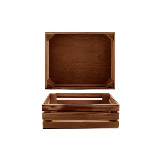 Дървена поставка тип щайга 32 * 26 см, венге, Bisetti Италия