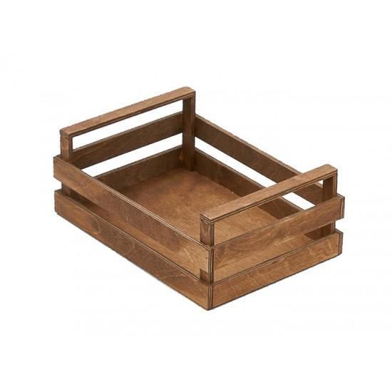 """Дървен панер тип """"Касета"""", 25 * 18 см, венге, Bisetti Италия"""