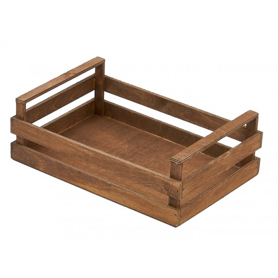 """Дървен панер тип """"Касета"""", 30 * 20 см, венге, Bisetti Италия"""