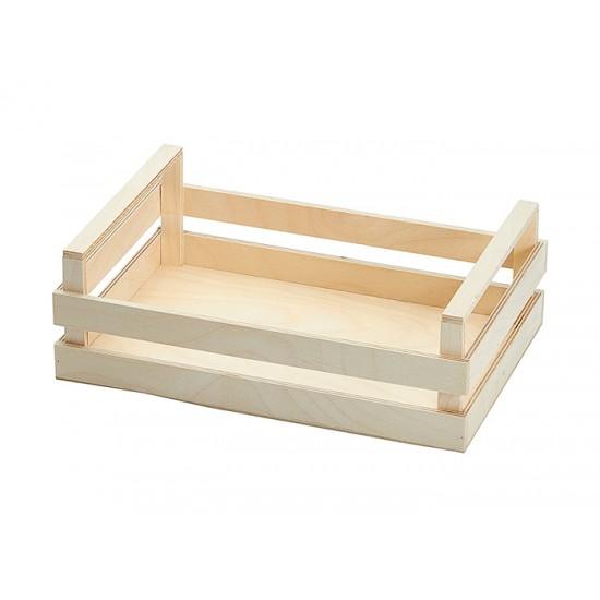 """Дървен панер тип """"Касета"""", 30 * 20 см, натурал, Bisetti Италия"""