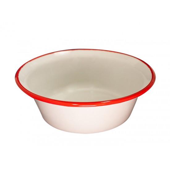 Конусовидна купа Ретро, 16 см, крем/червено, Horecano